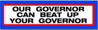 Our Governor sticker - rwb