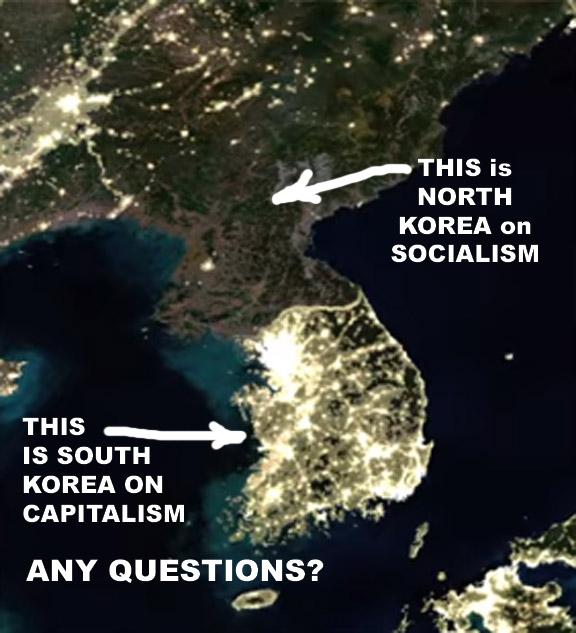 The Koreas at night