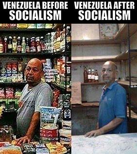Venezuela before & after                               socialism